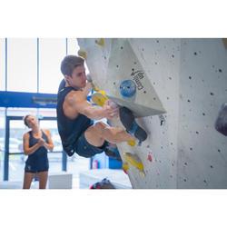 Technisch klimshort voor heren stretch antiekblauw
