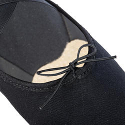 Demi-pointes danse classique bi-semelles en toile stretch noires tailles 41-42
