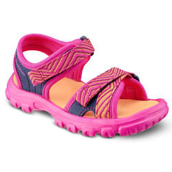 HIKING SANDALS - MH100 - FUSHIA - KIDS - SIZE 24 TO 31