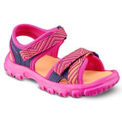 兒童款健行涼鞋 MH100-粉紅色