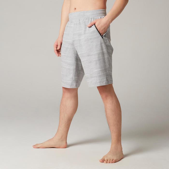 皮拉提斯與溫和健身標準剪裁長版短褲520 - 灰色