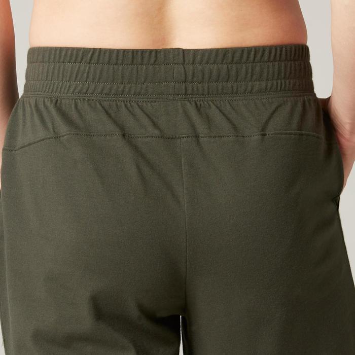 皮拉提斯與溫和健身標準剪裁長版短褲500 - 綠色