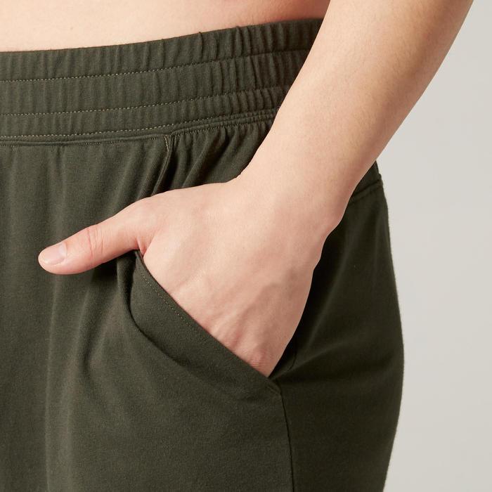 Pilates & Gentle Gym Regular-Fit Long Shorts 500 - Green