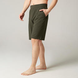 Pilates & Gentle Gym Regular-Fit Long Shorts 500 - Green