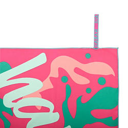 80 x 130 cm超輕便印花微纖維毛巾L號