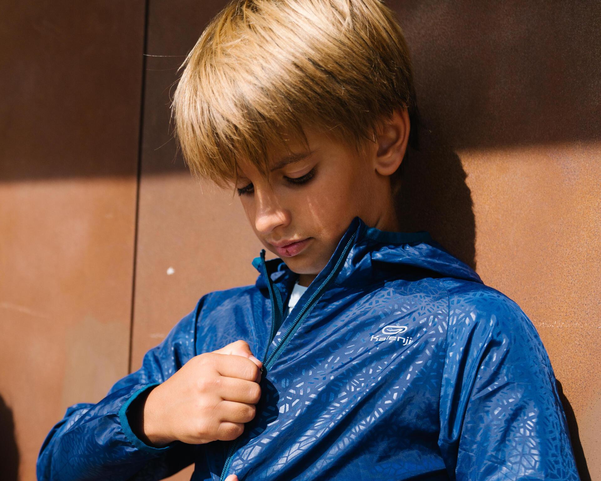 迪卡儂兒童防風外套