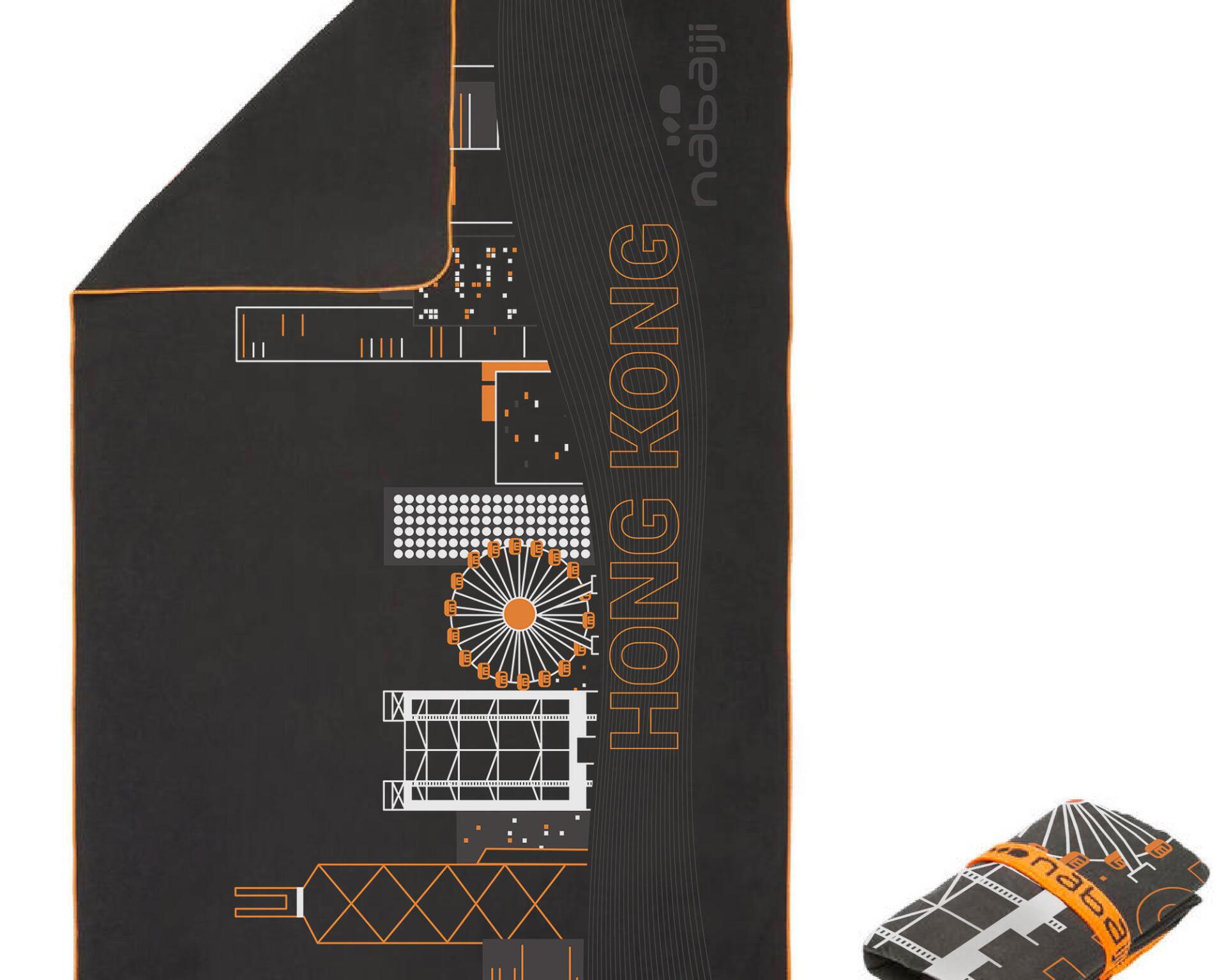 MICROFIBRE TOWEL SIZE L HONGKONG PRINT