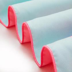 印花圖案微纖維押扣式毛巾,L號80 x 130 cm