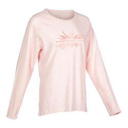 Long-Sleeved Gentle Yoga T-Shirt - Pink