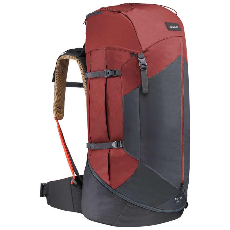 MOUNTAIN TREKKING BACKPACKS +50L Drumetie, Trekking - Rucsac TREK100 70L Bărbați FORCLAZ - Drumetie, Trekking