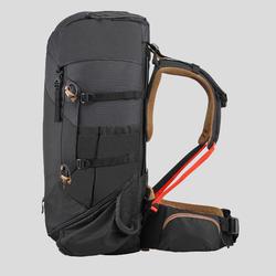 男款登山健行背包   TREK 100 Easyfit 50 L-黑色