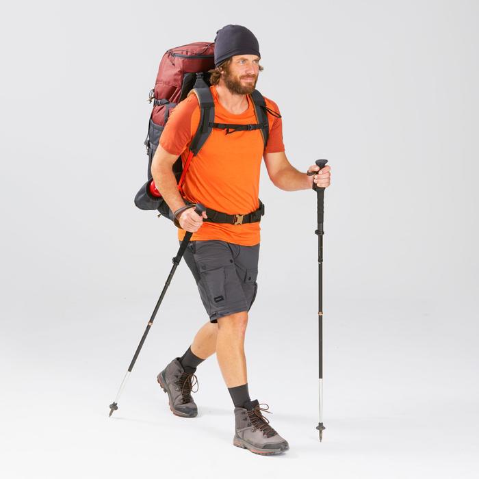 Rugzak voor bergtrekking heren Trek 100 Easyfit 70 l okergeel