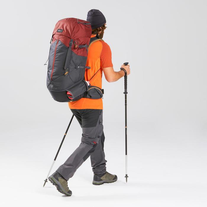 Rugzak voor bergtrekking heren Trek 100 Easyfit 70 l rood