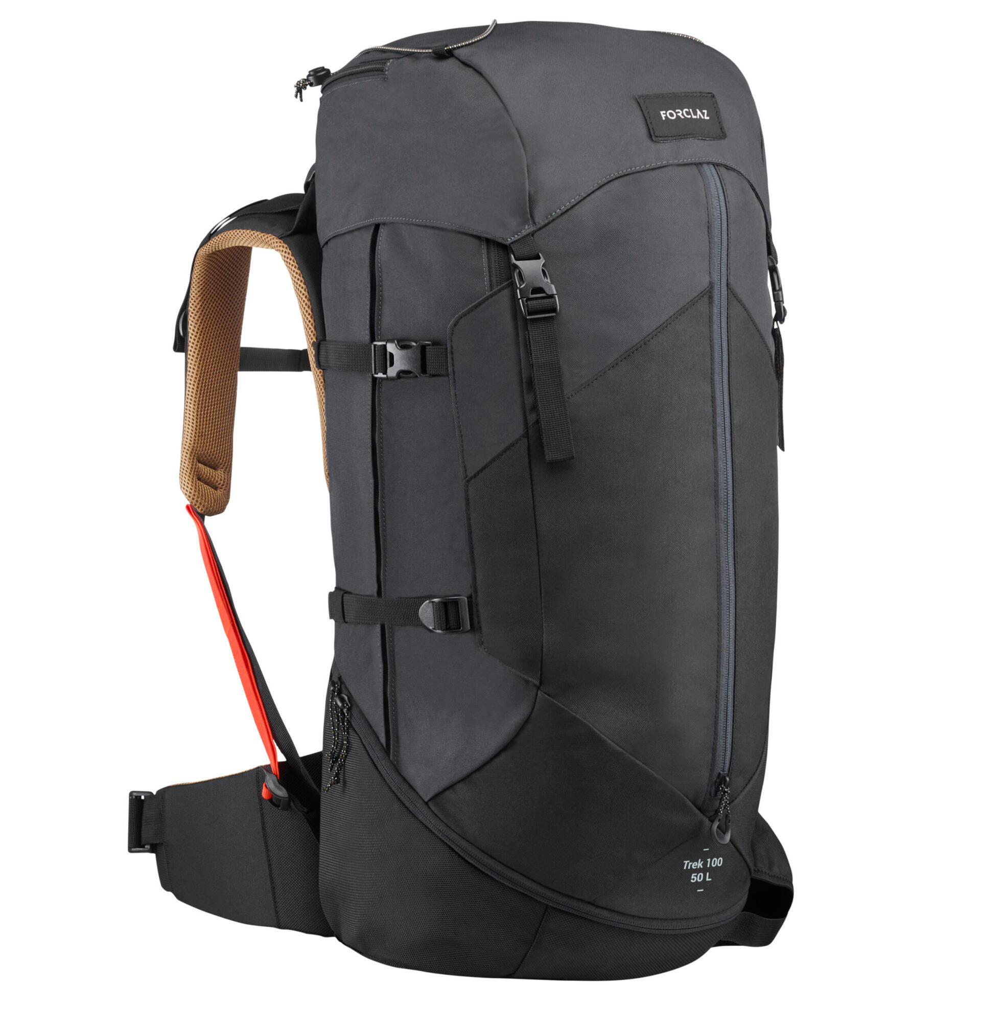 TREK 100 登山健行背包  EASYFIT 50 L-黑色