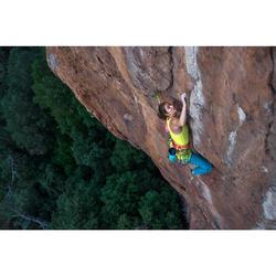 Damestop voor klimmen stretch kanariegeel