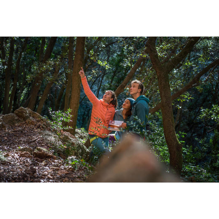 Doudoune en duvet d'alpinisme femme - ALPINISM LIGHT Corail