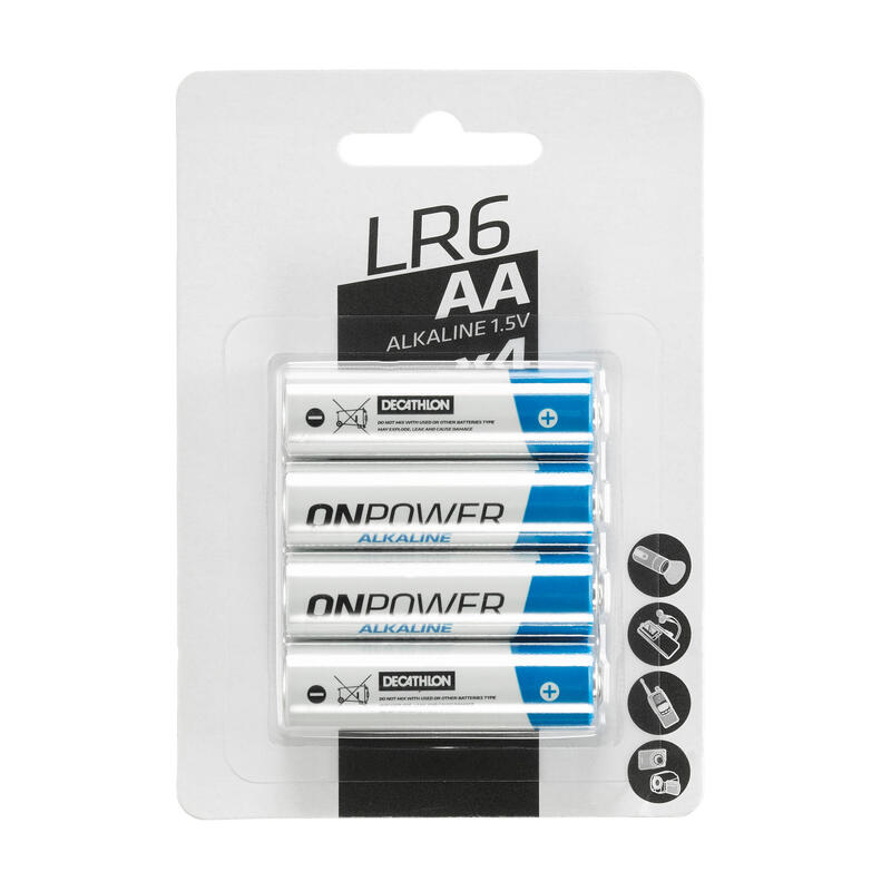 Lotto 4 batterie alcaline LR06-AA