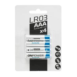 Pack of 4 alkaline batteries LR03 - AAA