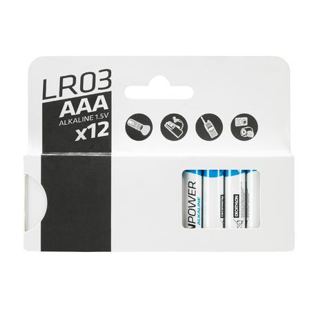 12 baterijų LR03-AAA pakuotė