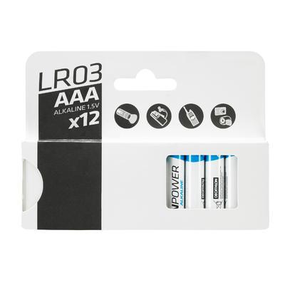 Lot de 12 piles alcalines LR03 - AAA