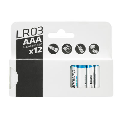 Set of 12 AAA Alkaline Batteries