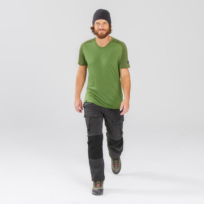 Pantalon modulable de trek montagne - TREK 100 gris homme