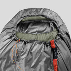 Sursac de trekking imperméable et respirant gris orange