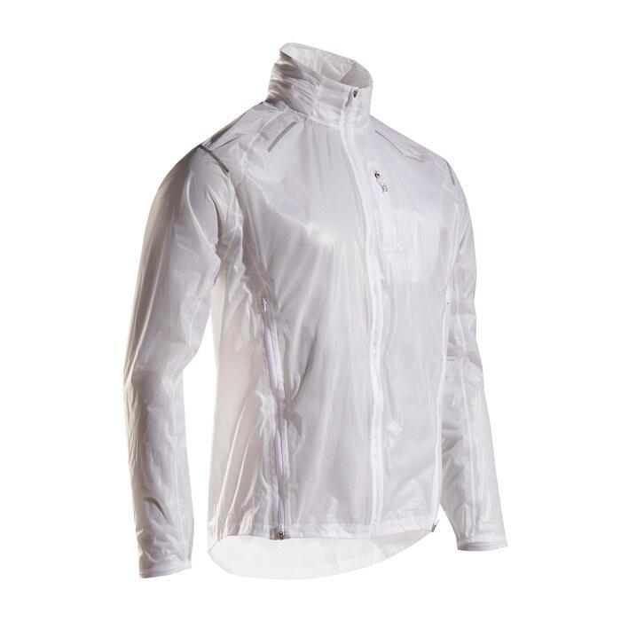 Regenjack voor hardlopen heren Kiprun Light wit