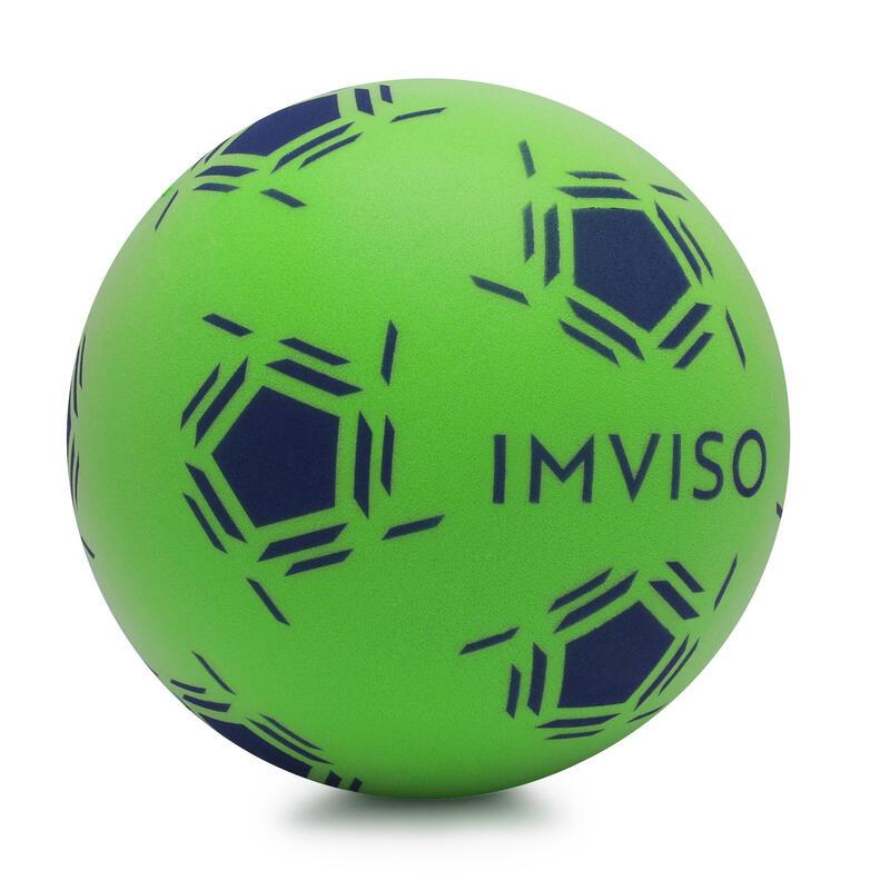 Bal voor zaalvoetbal van schuim maat 3 groen