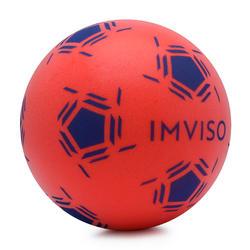 Bola de Aprendizagem Futsal em Espuma Tamanho 3 vermelho