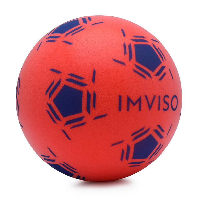 Bal voor zaalvoetbal van schuim maat 3 rood