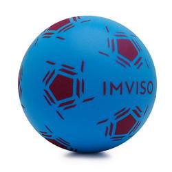 Bal voor zaalvoetbal van schuim maat 4 blauw