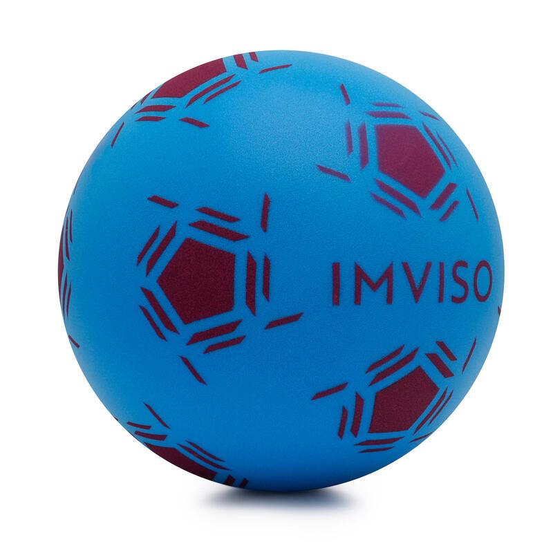 Bal voor zaalvoetbal van schuim maat 3 blauw