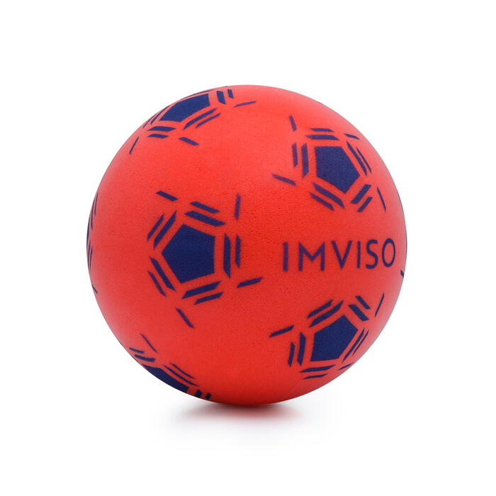 Mini ballon de Futsal mousse rouge bleu