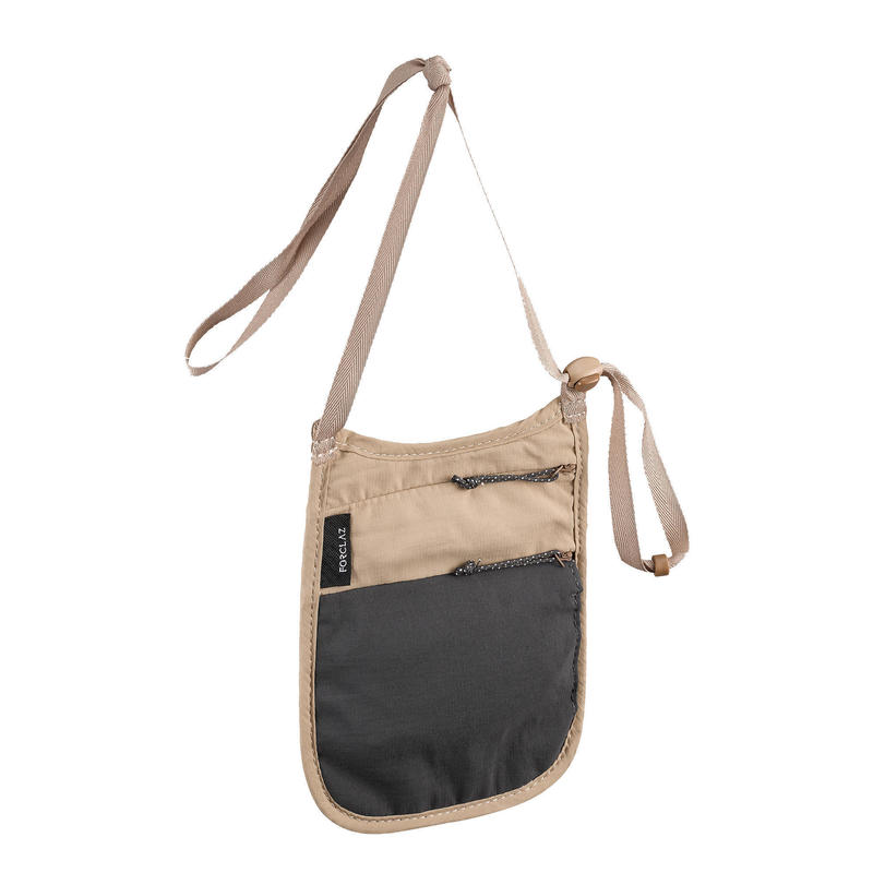 Onopvallend nektasje voor backpacken TRAVEL RFID beige