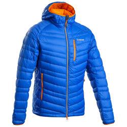 男款登山運動外套Down-山地淡藍