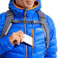 OBLEČENÍ NA ALPINISMUS Alpinismus, horolezectví - PÉŘOVÁ BUNDA ALPI LIGHT MODRÁ  SIMOND - Helmy, oblečení, obuv