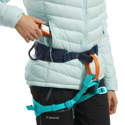 Doudoune en duvet d'alpinisme femme - ALPINISM LIGHT Vert Bleu