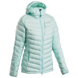 女款登山運動外套Dawn-山地淡藍綠色