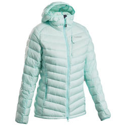 Women's Mountaineering Down Jacket - Alpinism Light Green Blue