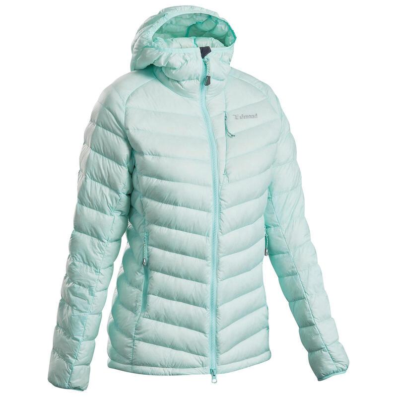 Donsjas voor alpinisme dames Alpinism Light groen/blauw