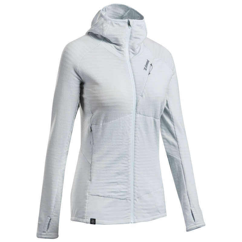 MOUNTAINEERING CLOTHING Mountaineering - Women's Pullover Alpinism Grey SIMOND - Mountaineering