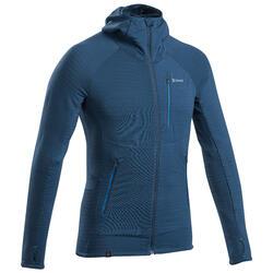 Pull à capuche en laine mérinos homme - ALPINISM Bleu