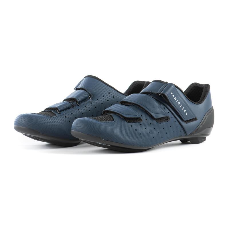 RCR500 Road Cycling Shoes - Navy Blue