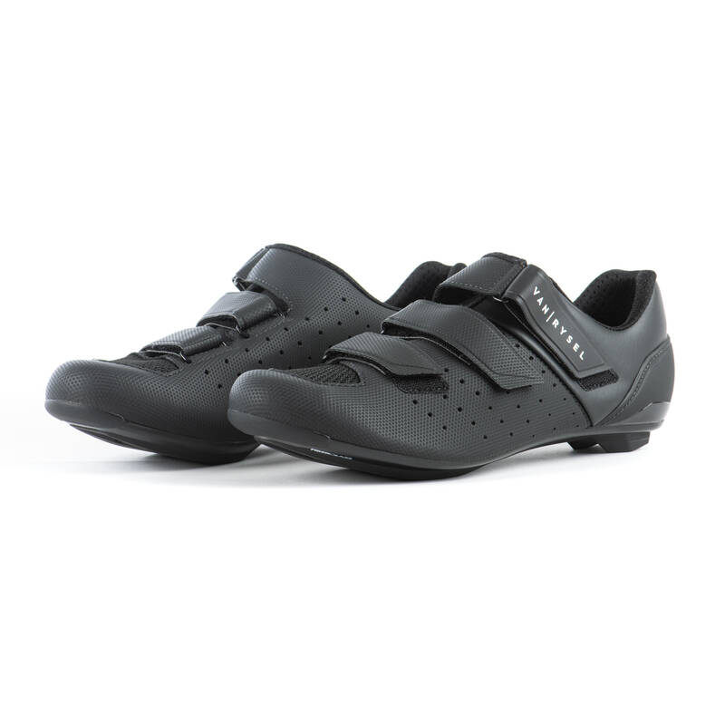 CYKL BOTY SILNIČNÍ KOLO Cyklistika - CYKLISTICKÉ TRETRY 500 černé VAN RYSEL - Helmy, oblečení, obuv