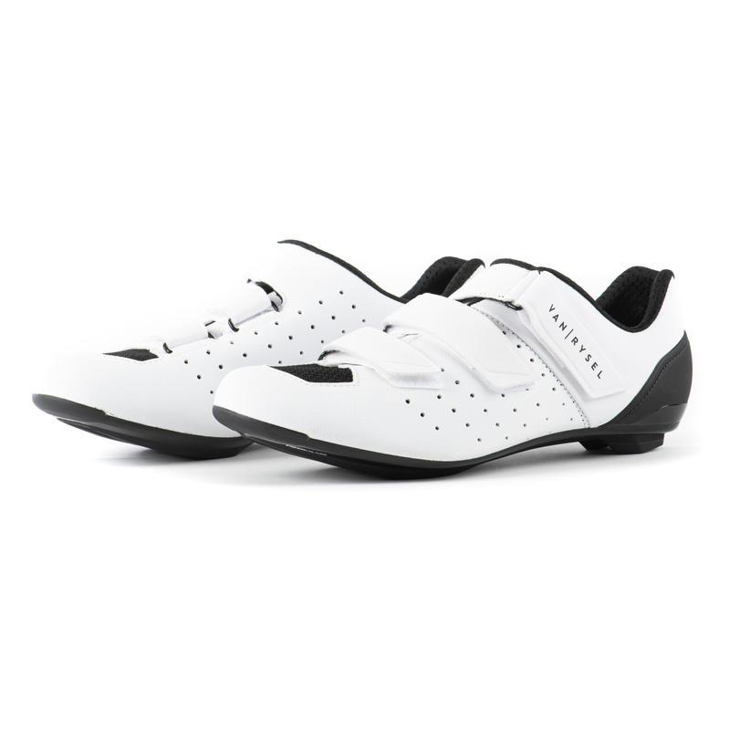 Chaussures vélo route cyclosport 500 BLANC GLACIER
