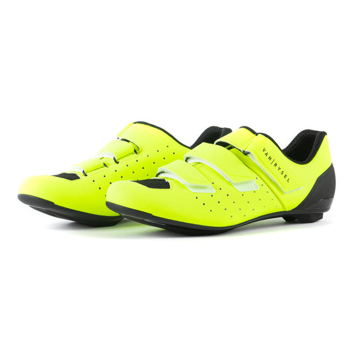 Chaussures vélo route cyclosport 500 JAUNE FLUO