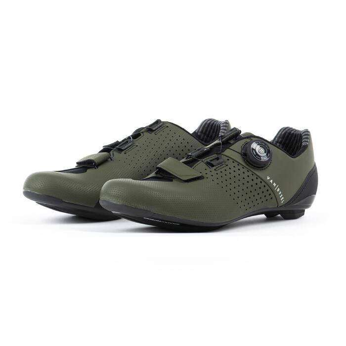 Fietsschoenen RR 520 Carbon kaki