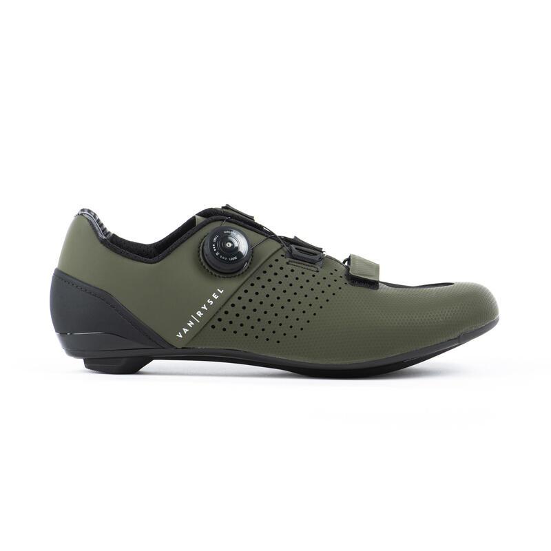 Chaussures de vélo cyclo-sport VAN RYSEL ROADR 520 KAKI