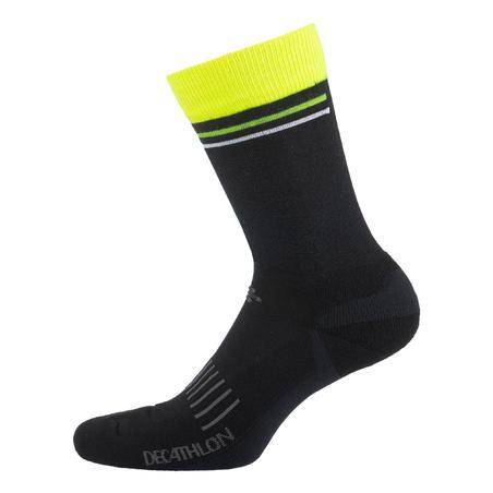"""Žieminės kojinės dviratininkams """"900"""", juodos / geltonos"""